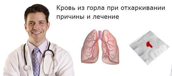 Кровь из горла при отхаркивании без кашля