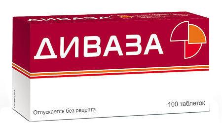 Таблетки Диваза от чего помогают, показания к применению