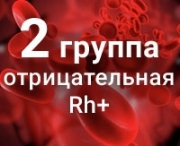 Группа крови 2 отрицательная
