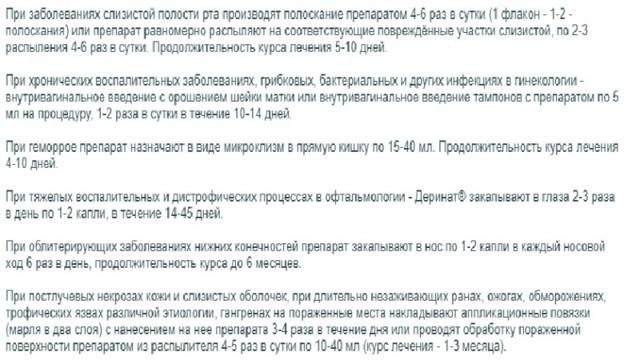 Деринат - 51 отзыв, инструкция по применению