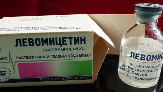 Глазные капли Левомицетин, инструкция по применению
